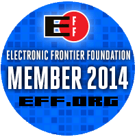 2013 Membership badge for the EFF